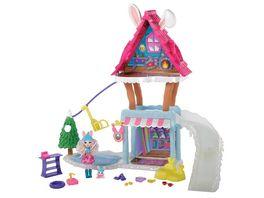 Mattel Enchantimals GJX50 Hasen Skihuette mit Bevy Bunny Jump