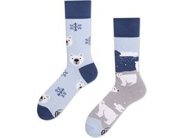 MANY MORNINGS Unisex Socken Polar Bear