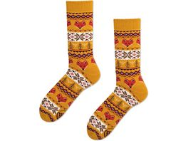 MANY MORNINGS Unisex Socken Warm Fox