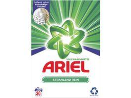 Ariel Vollwaschmittel Pulver Strahlend rein 30Waschladungen
