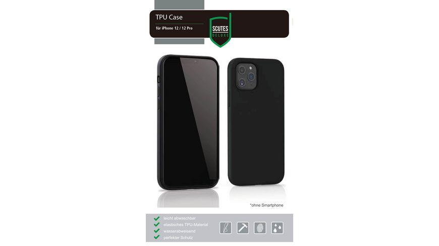 TPU-Schutzhülle matt schwarz (iPhone 12 Pro)