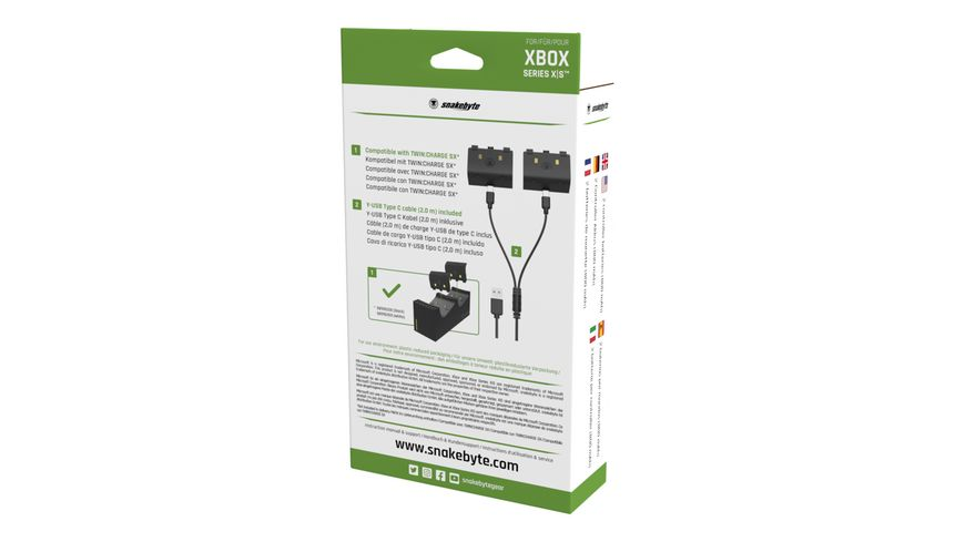 snakebyte XSX Battery Kit SX black