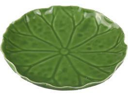 Asia Keramik Blatt Lotus 18 5 cm