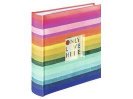Hama Memo Album Rainbow II fuer 200 Fotos im Format 10x15 cm