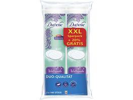 Duchesse Wattepads Duo Qualitaet XXL Sparpack 2 x 140 Stueck