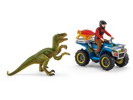 Schleich 41466 Dinosaurier Flucht auf Quad vor Velociraptor