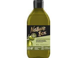 NATURE BOX Verwoehnendes Duschgel mit Oliven Duft