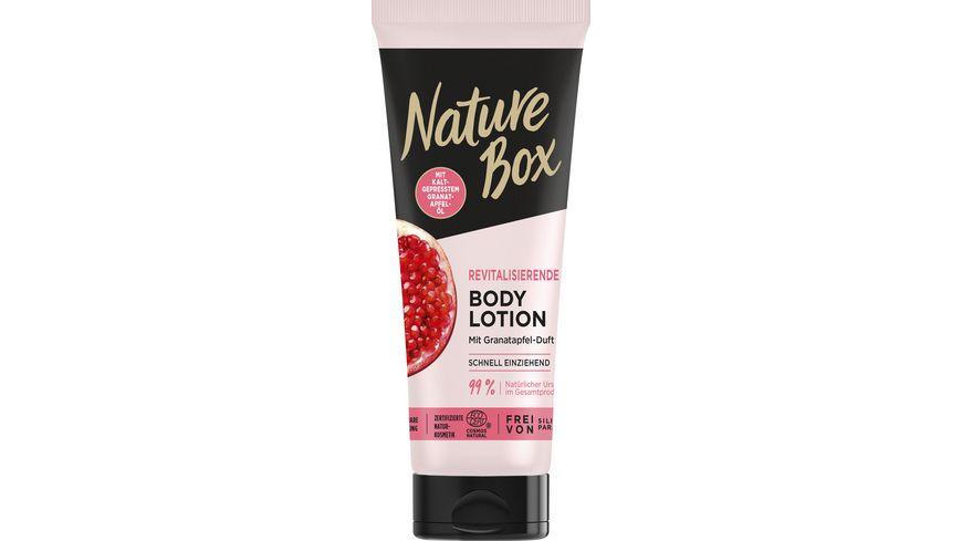 NATURE BOX Revitalisierende Body Lotion mit Granatapfel-Duft