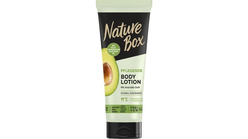 NATURE BOX Pflegende Body Lotion mit Avocado-Duft