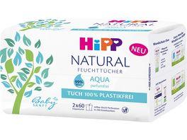 HiPP Babysanft Feuchttuecher Natural Aqua 2x60