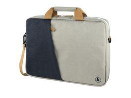 Hama Notebook Tasche Florenz bis 40 cm 15 6 Marineblau Hellgrau