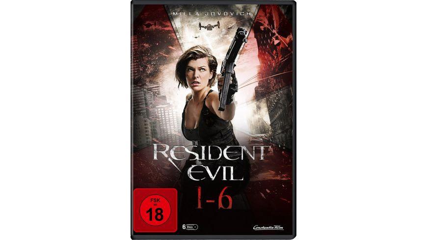 Resident Evil 1 6 6 DVDs