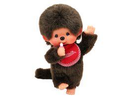 Monchhichi Junge mit Laetzchen rot 20 cm