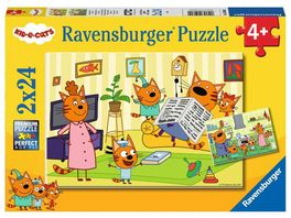 Ravensburger Puzzle Kid E Cats Zuhause bei den Kid e Cats 2 x 24 Teile