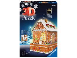 Ravensburger Puzzle 3D Puzzles Lebkuchenhaus bei Nacht 216 Teile