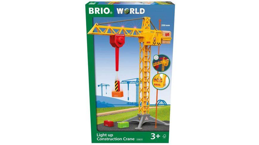 BRIO Bahn - Großer Baukran mit Licht