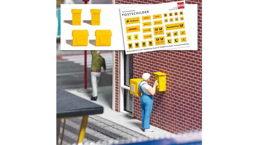 BUSCH 7761 H0 Mini Ausgestaltungs Set Briefkasten und Briefmarke