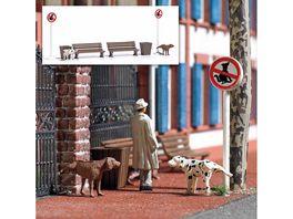 BUSCH 7895 H0 Action Set Pinkelnde Hunde