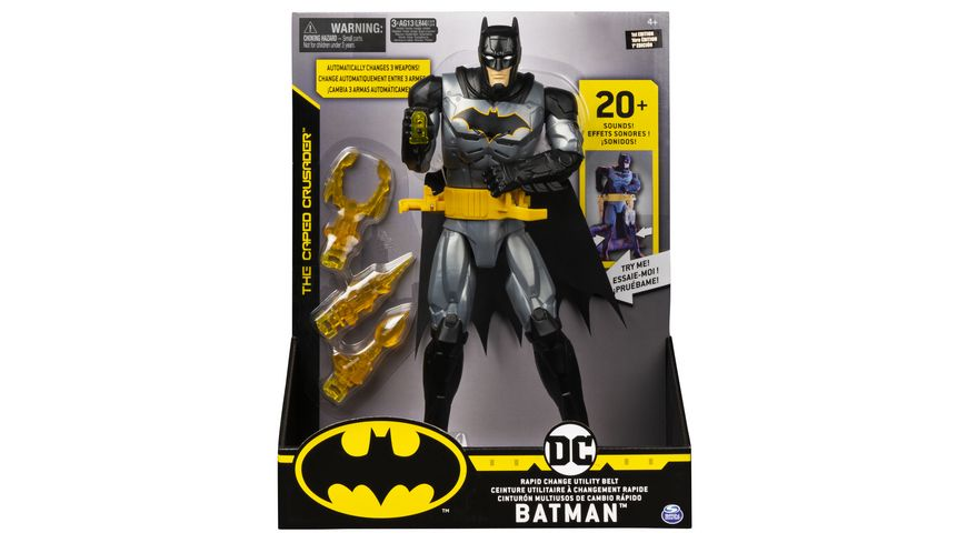 Spin Master - Batman - 30cm-Figur mit Waffengürtel (Feature Figure)