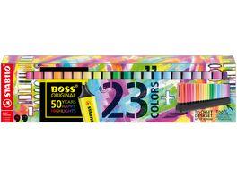 STABILO BOSS ORIGINAL Textmarker Tischset 23 Stifte