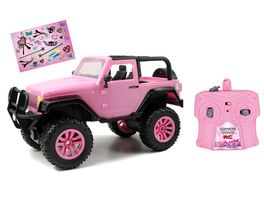 Dickie RC Pink Driverz Jeep Wrangler