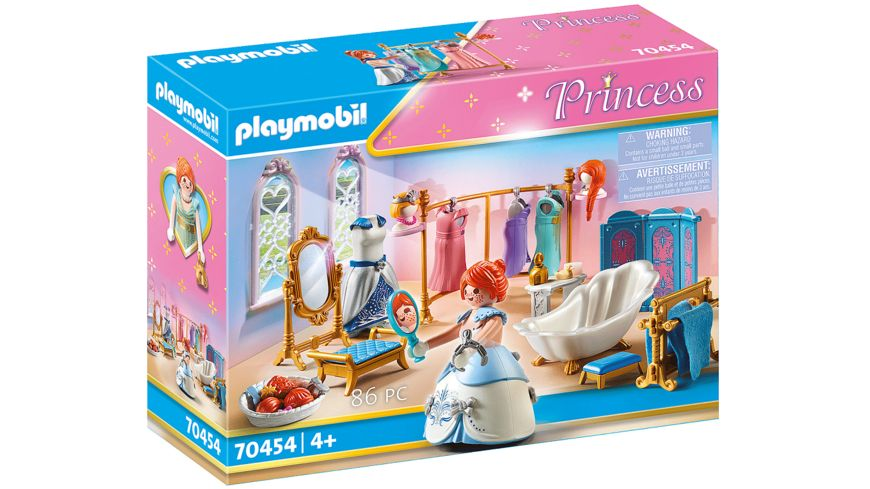 PLAYMOBIL 70454 - Princess - Ankleidezimmer mit Badewanne