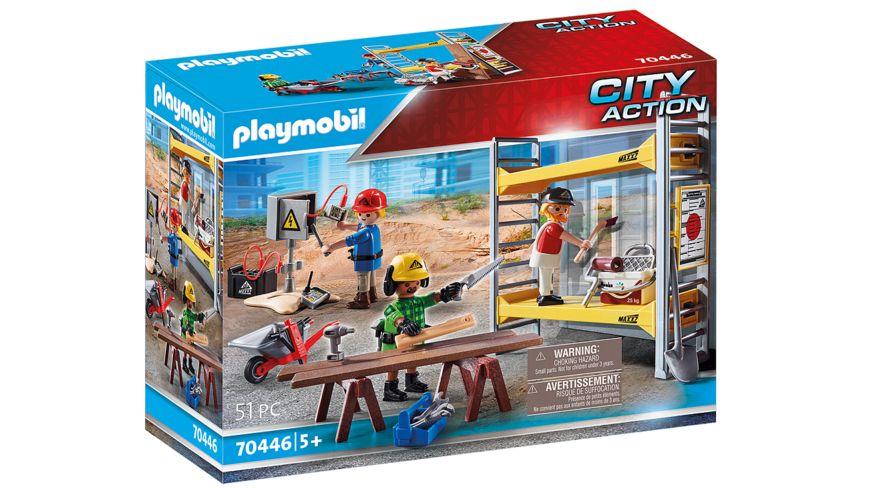 PLAYMOBIL 70446 - City Action - Baugerüst mit Handwerkern