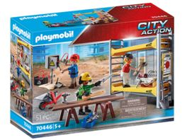 PLAYMOBIL 70446 City Action Baugeruest mit Handwerkern