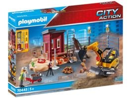PLAYMOBIL 70443 City Action Minibagger mit Bauteil