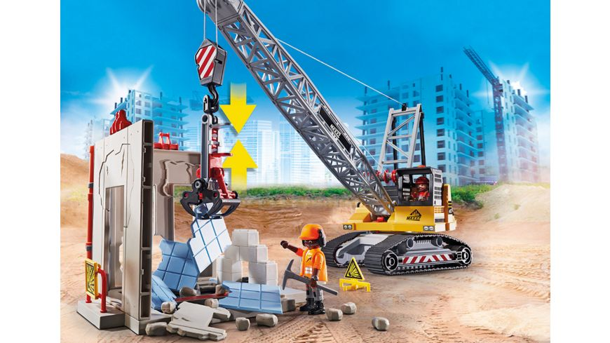 PLAYMOBIL 70442 City Action Seilbagger mit Bauteil