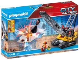 PLAYMOBIL 70442 City Action Seilbagger mit Bauteil