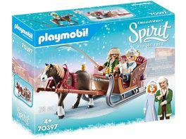 PLAYMOBIL 70397 Spirit Riding Free Winterliche Schlittenfahrt