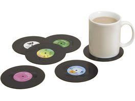 Gift Republic Untersetzer Set Schallplatten 6 tlg