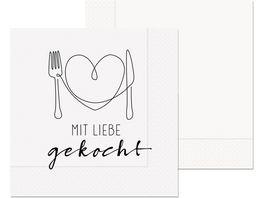 Geschenk fuer Dich Serviette Mit Liebe