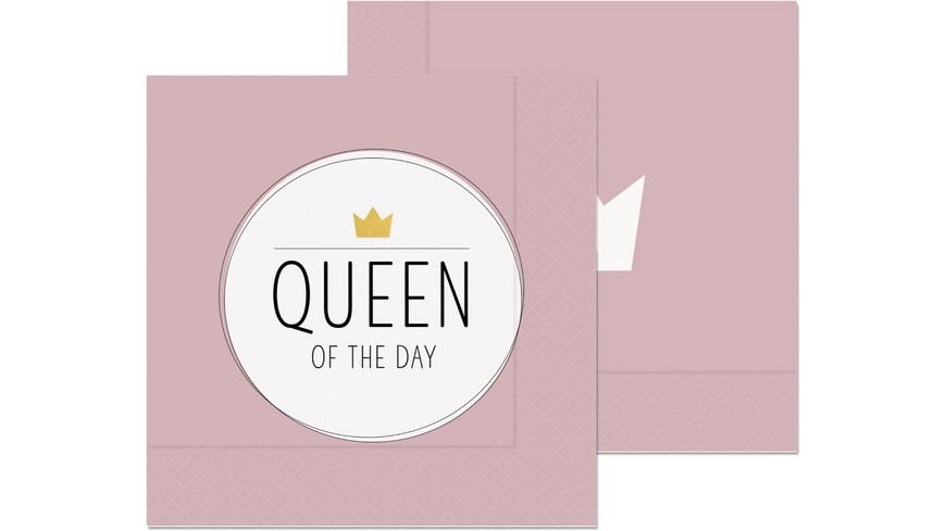 Geschenk fuer Dich Serviette Queen of the Day