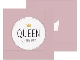 Geschenk fuer Dich Serviette Queen of the Day