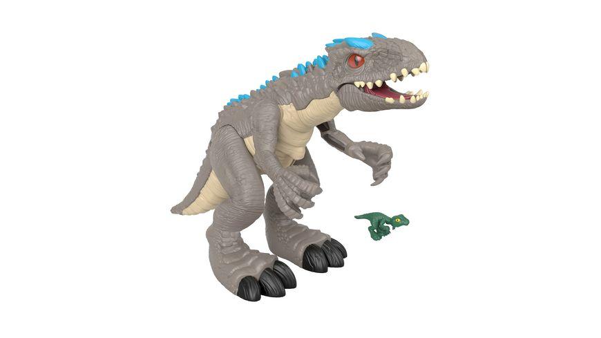 Imaginext Jurassic World Schleuderaction Indominus Rex-Dinosaurier