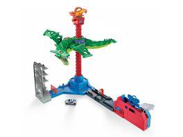 Hot Wheels Drachen Luftangriff Spielset mit Geraeuschen inkl 1 Spielzeugauto