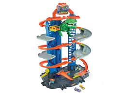 Mattel Hot Wheels Megacity Parkgarage mit T Rex Angriff