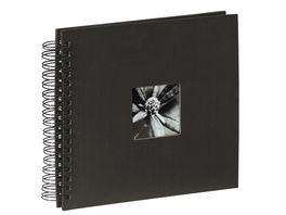 Hama Spiral Album Fine Art 28 x 24 cm 50 schwarze Seiten Schwarz