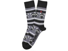Unabux Unisex Socken Waschbaeren