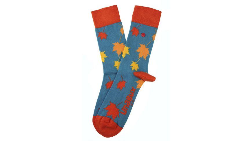 Unabux Unisex Socken Blaetter