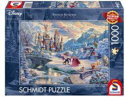 Schmidt Spiele Erwachsenenpuzzle Disney Die Schoene und das Biest Zauberhafter Winterabend Limited Christmas Edition