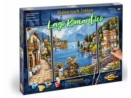 Schipper Malen nach Zahlen Motiv Gruppe Triptychon Lago Romantico