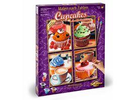 Schipper Malen nach Zahlen Motiv Gruppe Quattro Cupcakes