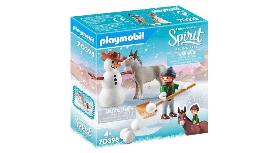 PLAYMOBIL 70398 - Spirit - Riding Free - Schneespaß mit Snips Herrn Karotte