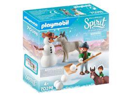 PLAYMOBIL 70398 Spirit Riding Free Schneespass mit Snips Herrn Karotte