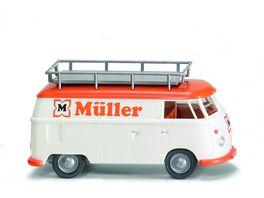 WIKING 879704 1 87 VW T1 MUeLLER mit Dachgepaecktraeger