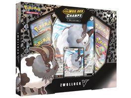 Pokemon Sammelkartenspiel Zwollock V der Erweiterung Weg des Champs