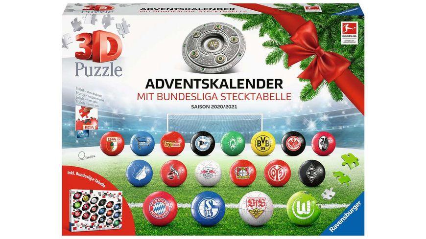 Ravensburger Puzzle 3D Puzzle Ball Bundesliga Adventskalender 2020 2021